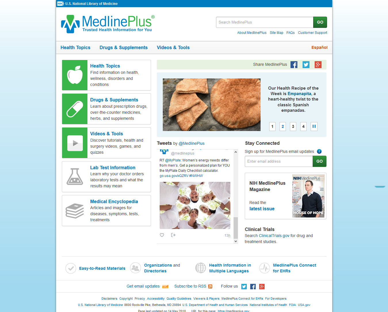 MedLine Plus Seniors' Health