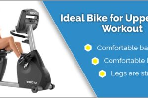 Recumbent bike for upper body workout