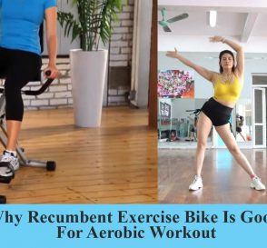 Recumbent bike for aerobic workout