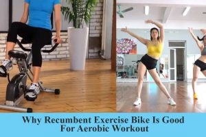Recumbent bike for aerobic workout